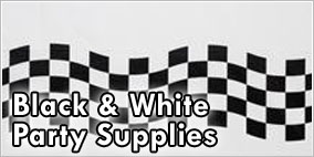 Black and White Checkered Party Supplies
